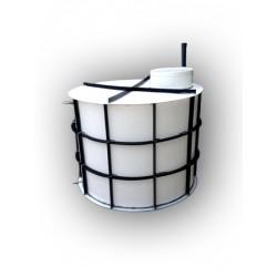 Nádrž na pitnou vodu dvouplášťová 1m3 - proti spodní vodě