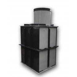 Hranatá retenční nádrž samonosná 1m3 na užitkovou, dešťovou vodu