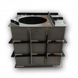 Hranatá retenční nádrž samonosná 4m3 na užitkovou, dešťovou vodu