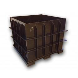 Hranatá retenční nádrž samonosná 6m3 na užitkovou, dešťovou vodu