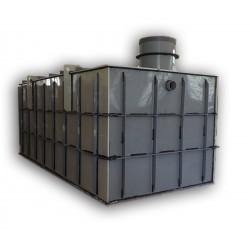 Hranatá retenční nádrž samonosná 12m3 na užitkovou, dešťovou vodu