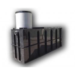 Hranatá retenční nádrž pro obetonování 2m3 na užitkovou, dešťovou vodu