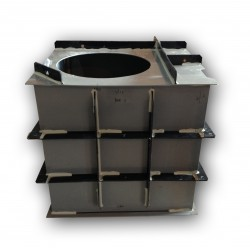 Hranatá retenční nádrž pro obetonování 4m3 na užitkovou, dešťovou vodu
